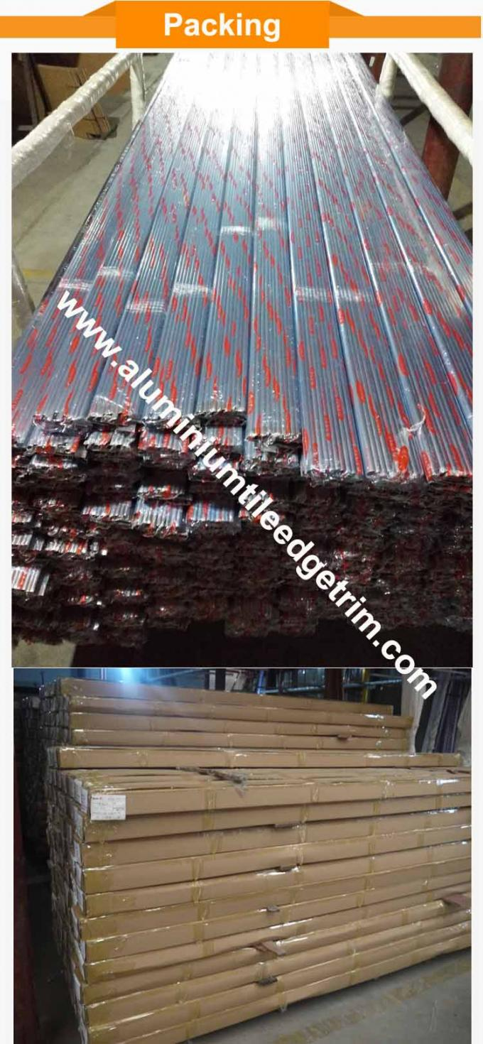 kuadran sudut aluminium trim packing