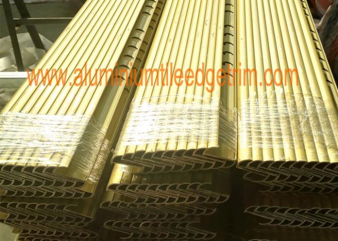 matt gold aluminium tile trim profil di shrink film