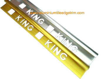 Cina Quadrant Wall Tile Metal Trim Aluminium Edging Strip Dengan King Punching Holes pemasok