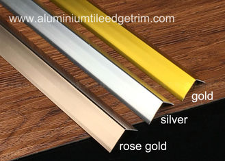 Cina Sleek Anodized Aluminium Corner Guard Dinding Tile Corner Trim 90 Degree Angle pemasok
