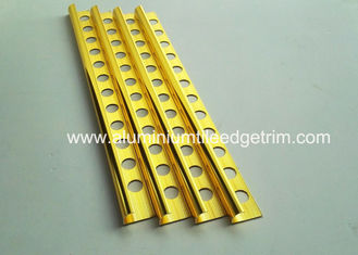 Cina 10mm Round Edge Sudut Eksternal Tile Trim Bright Dipoles Golden Effect pemasok