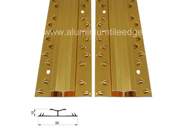 Cina Kedua Sisi Aluminium Carpet Trim Form Carpet To Carpet Threshold Transition pemasok