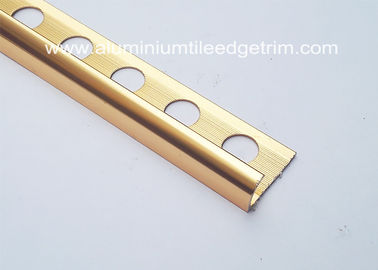 Cina 10mm Aluminium Tile Edge Trim, Anti-Oksidasi Metal Trim Pieces For Tile pemasok