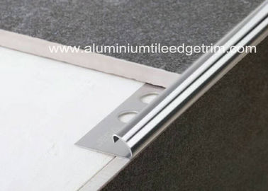 Cina 10mm Stainless Steel Round Edge Tile Trim / Outside Corner Trim Long Durability pemasok