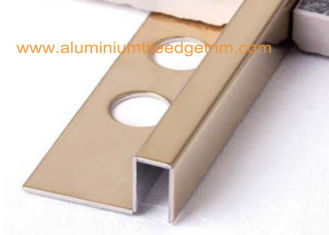 Cina Cermin Emas Stainless Steel Tile Trim 12mm, Stainless Steel Square Edge Tile Trim pemasok