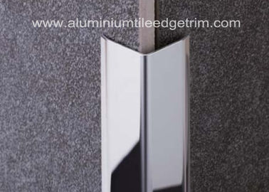 Cina Dipoles Stainless Steel Ubin Trim / Angle Trim, Ujung Stainless Tile Trim 20mm X 20mm X 2.44m pemasok