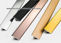 Cina Shiny Colored Aluminium T Berbentuk Divider Trim / Strip Dekoratif pabrik