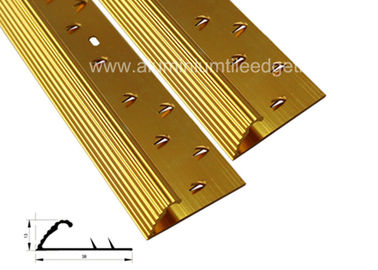 Teeth Aluminium Carpet Trim Gripper, Warpet Tile Threshold Transition Strips Untuk Doorway