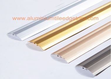 Lantai Aluminium Panjang Durability Trims Cover Strip Untuk Laminate / Doorway