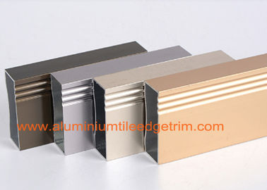 Anodized 6063 - T5 Aluminium Extrusion Profilees Rectangular Hollow Shaped