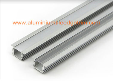 Matt Silver Aluminium Square Tubing, LED Profil Aluminium Channel Untuk Led Strip Lighting