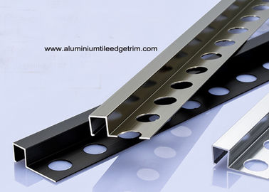 10mm Square Box Aluminium Tile Edge Trim Dipoles Dan Anodized