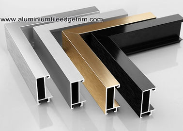 Wide Edge Metal Aluminium Picture Frame Mouldings Untuk Galeri